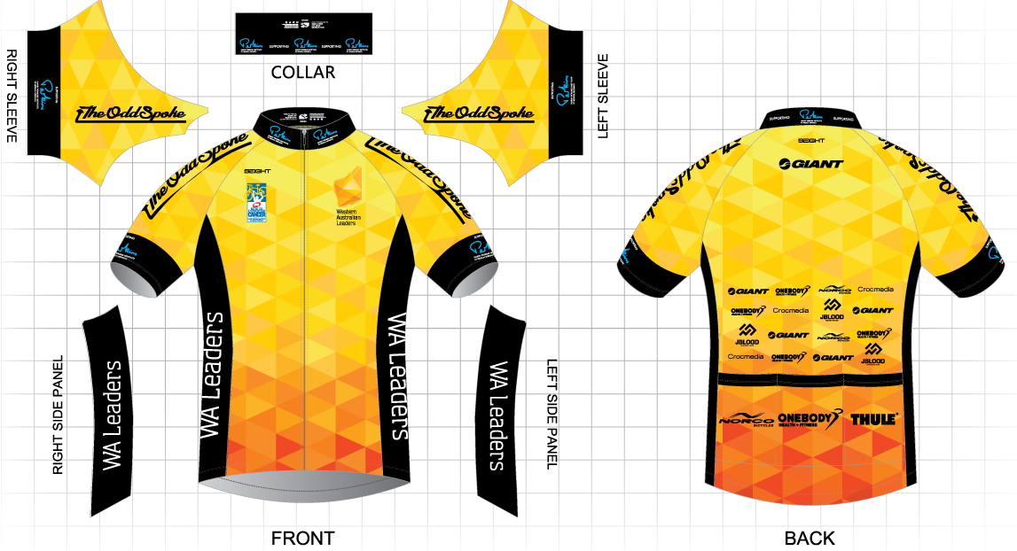 WA Leaders MACA Ride To Conquer Cancer Team and Team Jersey